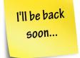 Bientôt de retour