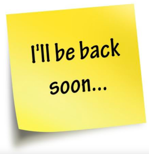 ill be back soon